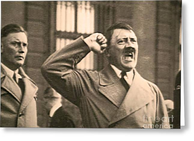 Orator Greeting Cards - Hitler the Orator Greeting Card by Al Bourassa