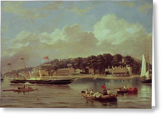 1849 Greeting Cards - HM Yacht Victoria Greeting Card by George Gregory
