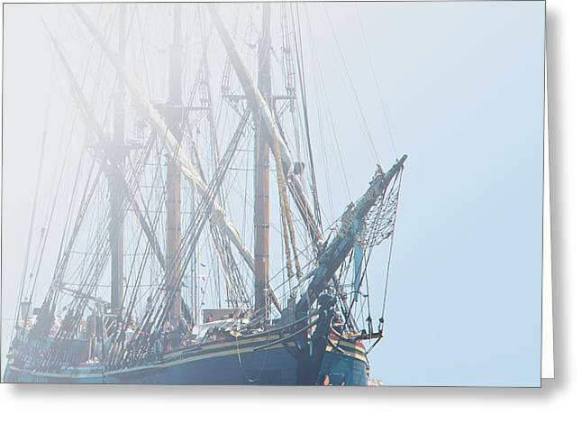 Pirate Ships Greeting Cards - HMS Bounty Greeting Card by Kenneth Albin