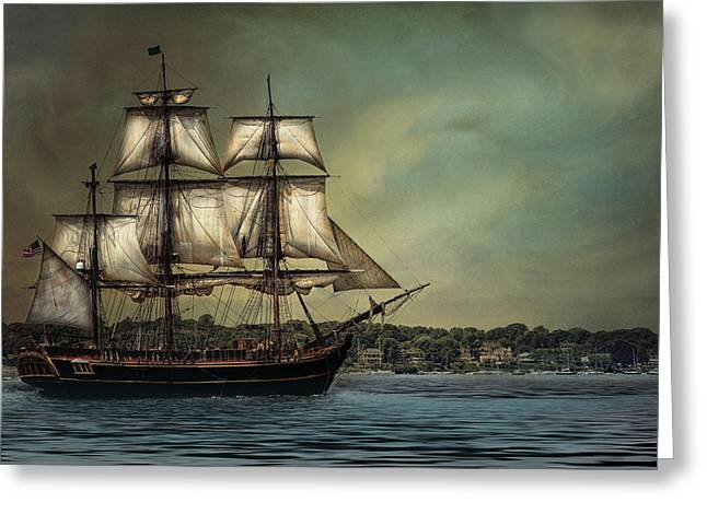 Tall Ships Greeting Cards - HMS Bounty Greeting Card by Robin-lee Vieira