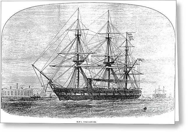 1872 Greeting Cards - Hms Challenger, 1872 Greeting Card by Granger