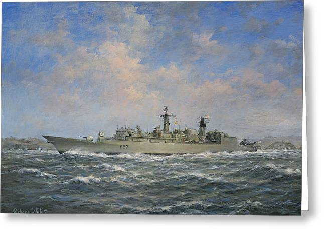 Navy Greeting Cards - H.M.S. Chatham Type 22 - Batch 3 Greeting Card by Richard Willis