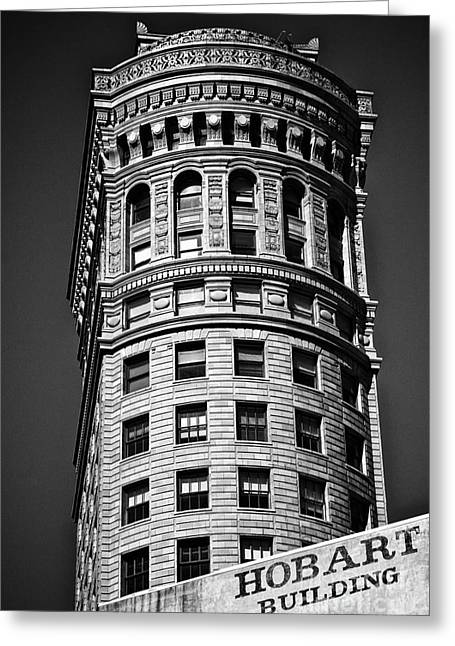Mordern Greeting Cards - Hobart Building in San Francisco ll - black and white Greeting Card by Hideaki Sakurai