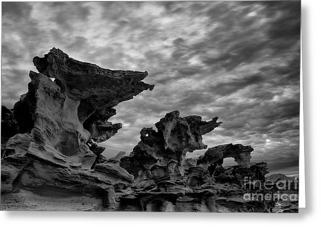 Surreal Landscape Greeting Cards - Hobgoblins Greeting Card by Keith Kapple