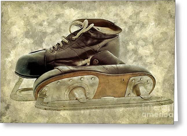 Hockey Boots Greeting Card by Dariusz Gudowicz