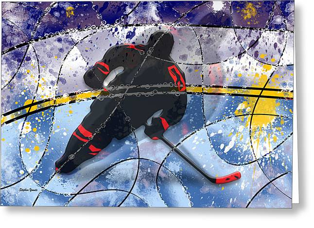 Hockey Net Greeting Cards - Hockey Greeting Card by Stephen Younts