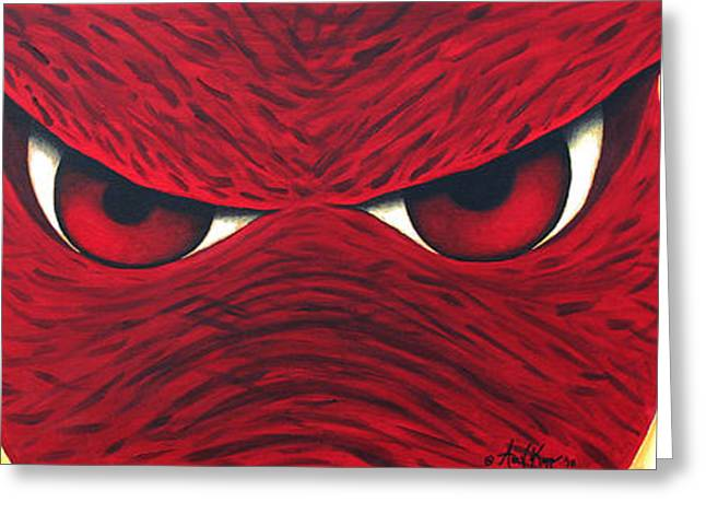Hog Fan Greeting Cards - Hog Eyes 2 Greeting Card by Amy Parker