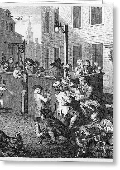 1751 Greeting Cards - Hogarth: Cruelty, 1751 Greeting Card by Granger