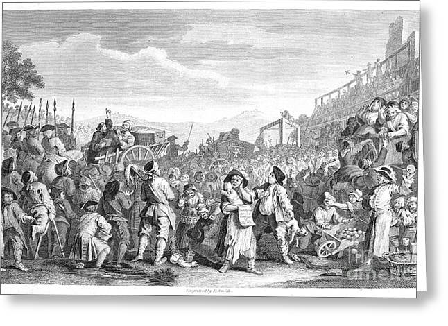 1751 Greeting Cards - Hogarth: Industry, 1751 Greeting Card by Granger