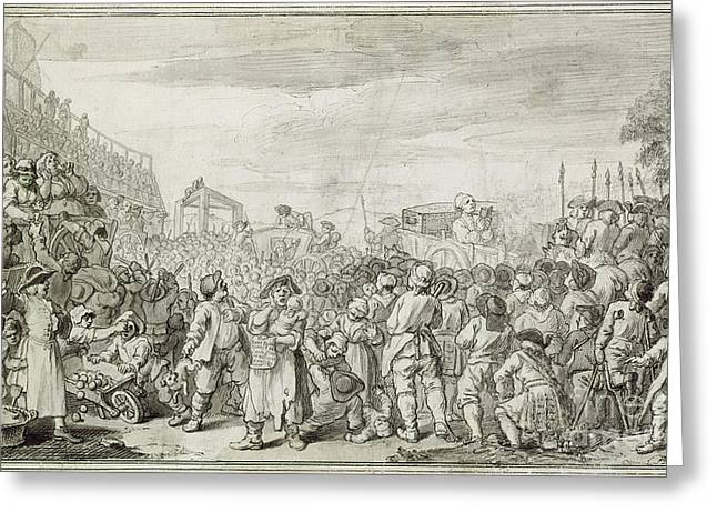 1751 Greeting Cards - HOGARTH: INDUSTRY, c1751 Greeting Card by Granger