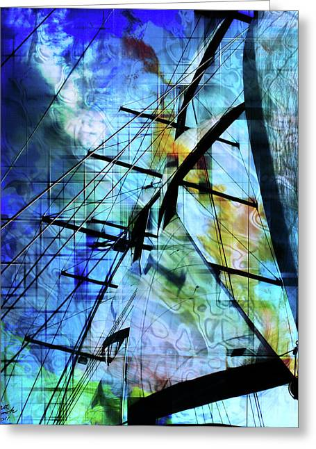 Pirate Ships Greeting Cards - Hoist Greeting Card by Monroe Snook