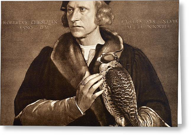 Henry Viii Greeting Cards - Holbein: Falconer, 1533 Greeting Card by Granger