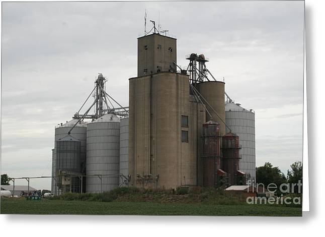 Corn Holder Greeting Cards - Holder grain elevator Greeting Card by Roger Look
