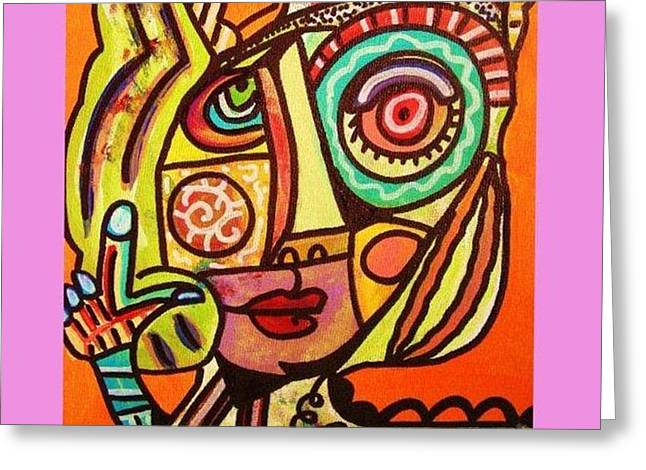Hole In My Head - Yiddish Greeting Card by Sandra Silberzweig