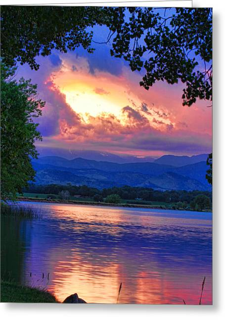 Lightning Photographs Greeting Cards - Hole in the Sky Sunset Greeting Card by James BO  Insogna