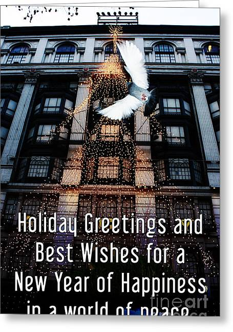 Christmas Greeting Photographs Greeting Cards - Holiday Greetings and Best Wishes for a New Year of Happiness in a world of peace Greeting Card by Nishanth Gopinathan