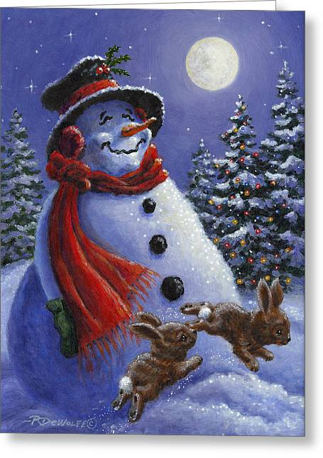 Holiday Magic Greeting Card by Richard De Wolfe