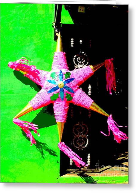 Gypsy Greeting Cards - Holiday Pinata 2 by Darian Day Greeting Card by Olden Mexico