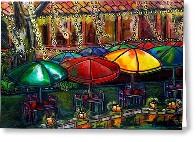 San Antonio Greeting Cards - Holiday Riverwalk Greeting Card by Patti Schermerhorn