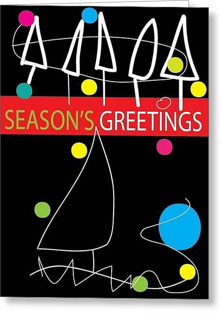Postal Drawings Greeting Cards - Holiday Season 1 Greeting Card by Richard Lanctot