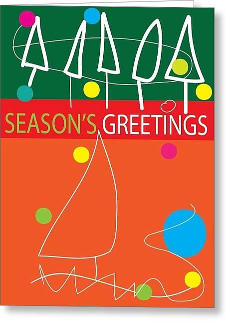 Postal Drawings Greeting Cards - Holiday Season 2 Greeting Card by Richard Lanctot