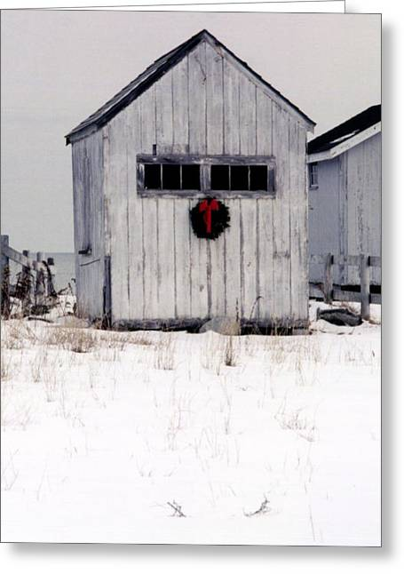 Shack Greeting Cards - Holiday Spirit 2 Greeting Card by Christina Solstad