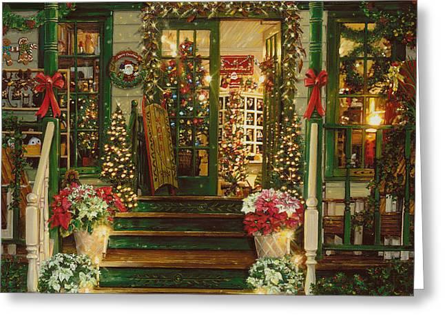 Holiday Treasured Greeting Card by Doug Kreuger