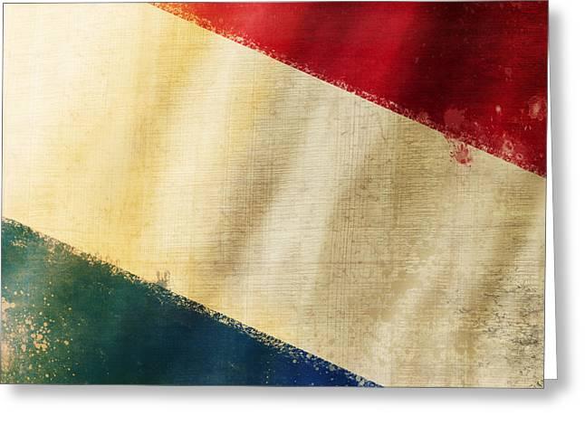 Chalks Greeting Cards - Holland flag Greeting Card by Setsiri Silapasuwanchai
