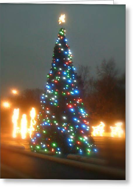 Branson Mo Greeting Cards - Hollister Christmas Tree Greeting Card by Terry Zeyen