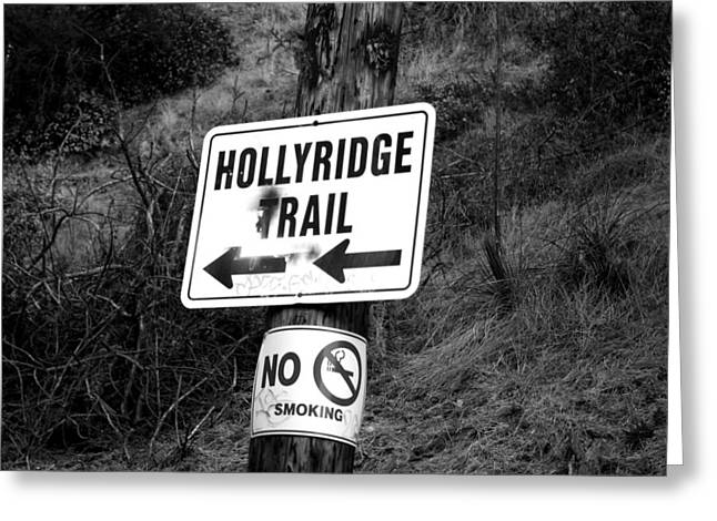 Smoking Trail Greeting Cards - HollyRidge Trail Greeting Card by Jera Sky