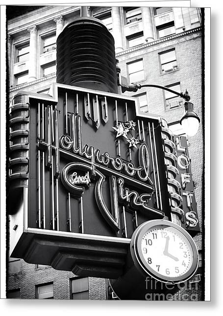 Recently Sold -  - ist Photographs Greeting Cards - Hollywood and Vine Restaurant Greeting Card by John Rizzuto