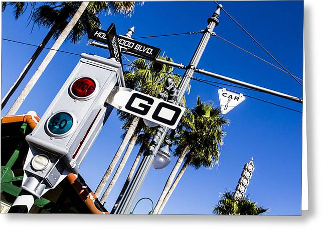 Amusements Greeting Cards - Hollywood Blvd Greeting Card by Nicholas Evans