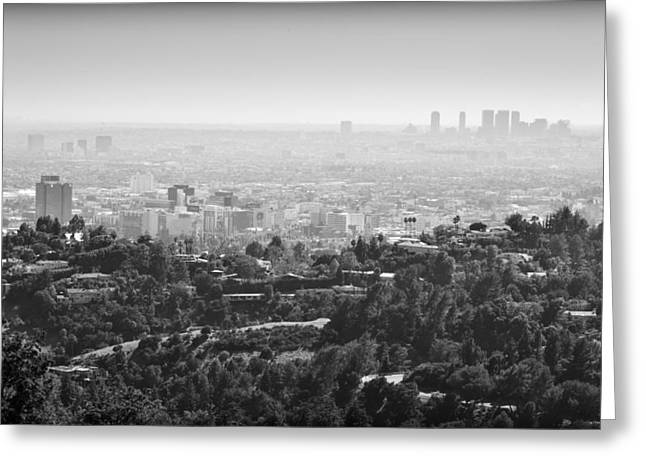 Hollywood From Above Greeting Card by Ricky Barnard