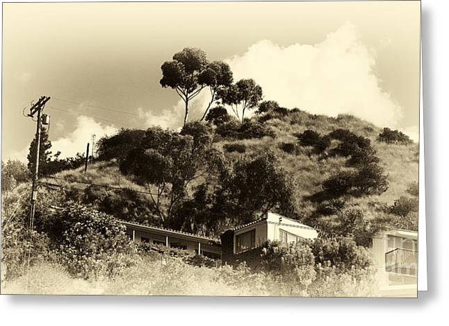 California Art Greeting Cards - Hollywood Hills Greeting Card by John Rizzuto