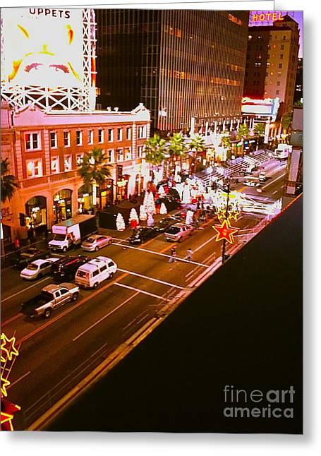 Kodak Theatre Greeting Cards - Hollywood Movie Set Greeting Card by Jamie Lawrence