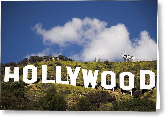 S. California Greeting Cards - Hollywood Sign Greeting Card by Anthony Citro