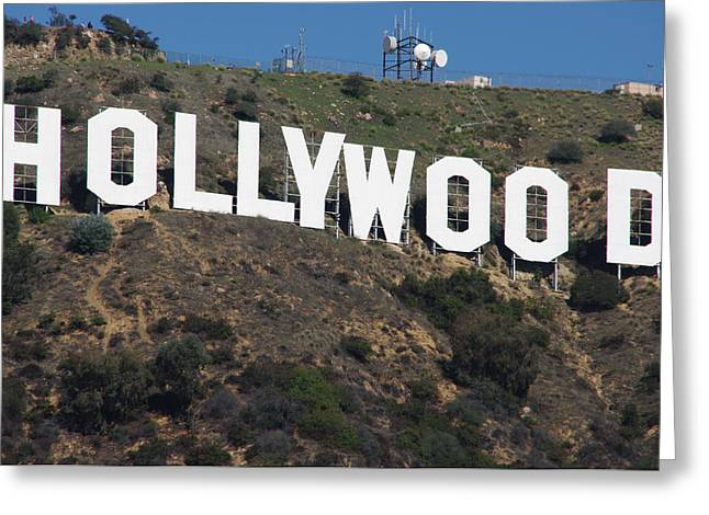 Best Sellers -  - California Tourist Spots Greeting Cards - Hollywood Sign Greeting Card by Jeff Lowe