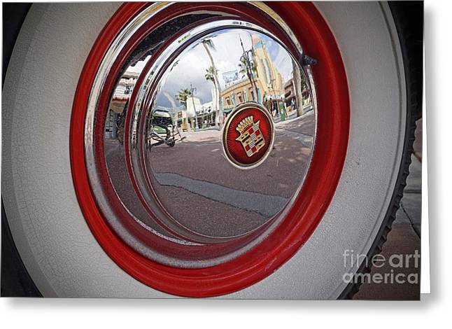 Wheel Pyrography Greeting Cards - Hollywood Studios Reflection Greeting Card by AK Photography