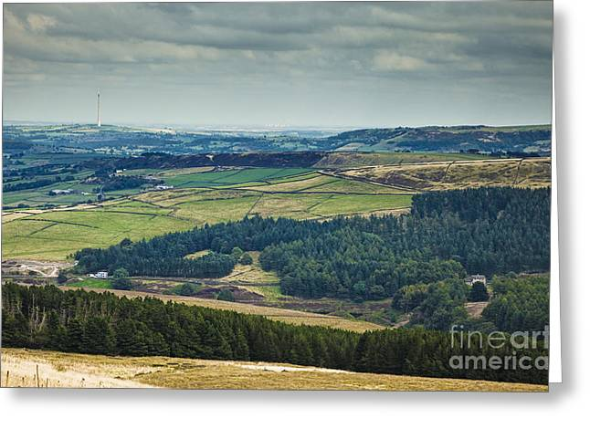 West Yorkshire Greeting Cards - Holme Valley in England Greeting Card by Jon Boyes