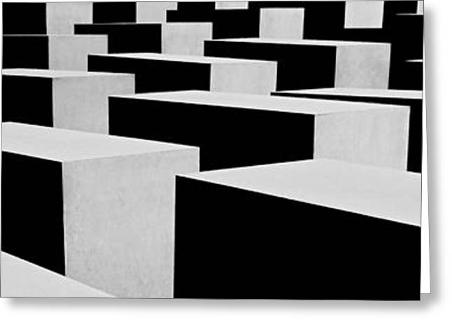 Allemagne Greeting Cards - Holocaust Memorial - Berlin Greeting Card by Juergen Weiss