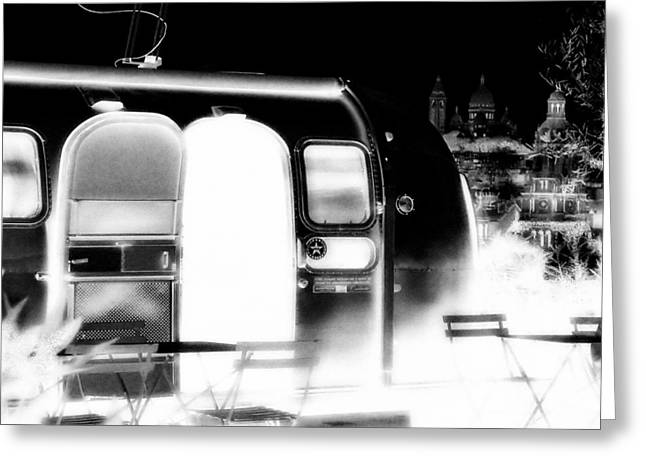 Stainless Steel Greeting Cards - Holy Airstream Greeting Card by Andrew Fare