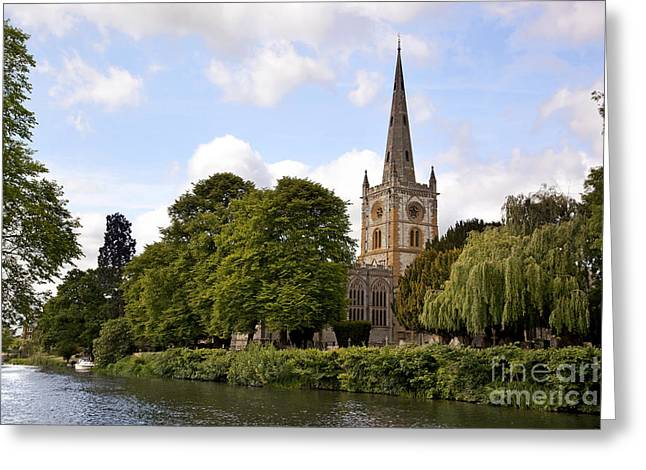 Gravestones Greeting Cards - Holy Trinity Church Greeting Card by Jane Rix