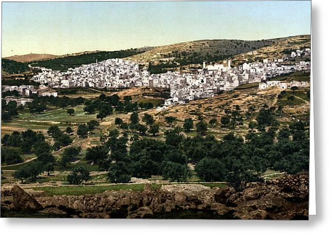 Hebron Greeting Cards - Holyland - Hebron Greeting Card by Munir Alawi