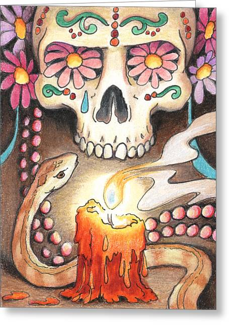 Candle Lit Drawings Greeting Cards - Homage Greeting Card by Amy S Turner