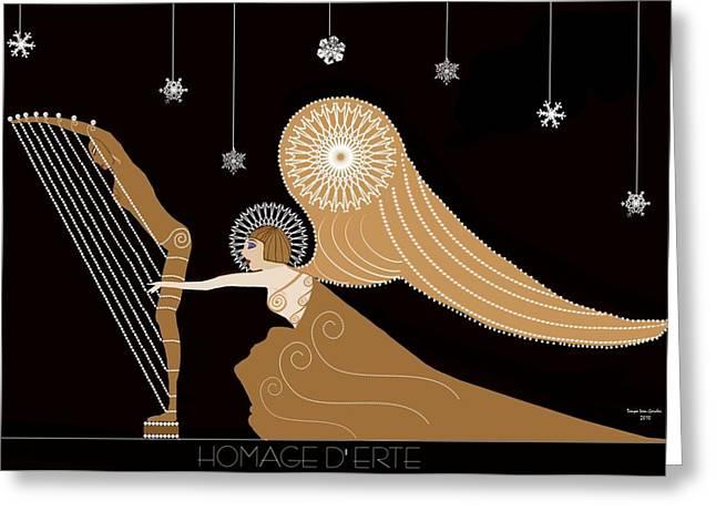 Erte Greeting Cards - Homage DErte Greeting Card by Tanya Van Gorder