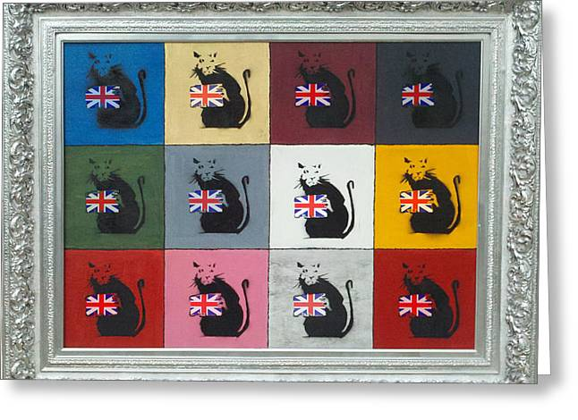 Banksy Paintings Greeting Cards - Homage to Banksy Greeting Card by Michael Laurent