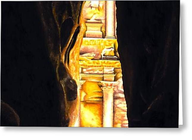 Homage to Petra Greeting Card by Richard Young