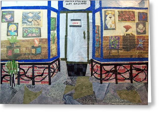Stored Tapestries - Textiles Greeting Cards - Home Away From Home Greeting Card by Charlene White