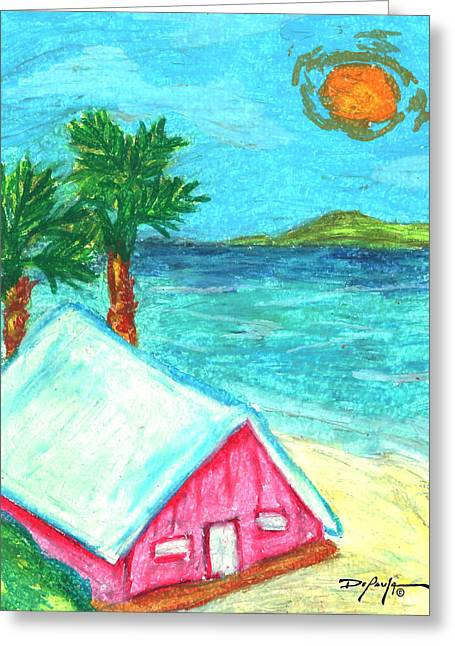 Island Artist Pastels Greeting Cards - Home by Shore Greeting Card by William Depaula