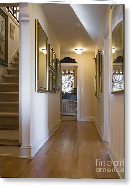 Hardwood Flooring Greeting Cards - Home Hallway Greeting Card by Andersen Ross